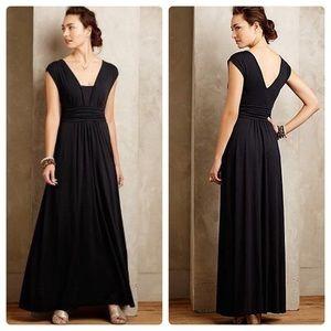 Anthropologie Maeve Verda Maxi Dress Black
